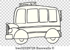 School Bus Vector Black And White