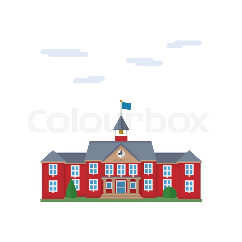 800x800 Isolated Vector Icon Of School House Building Stock Vector