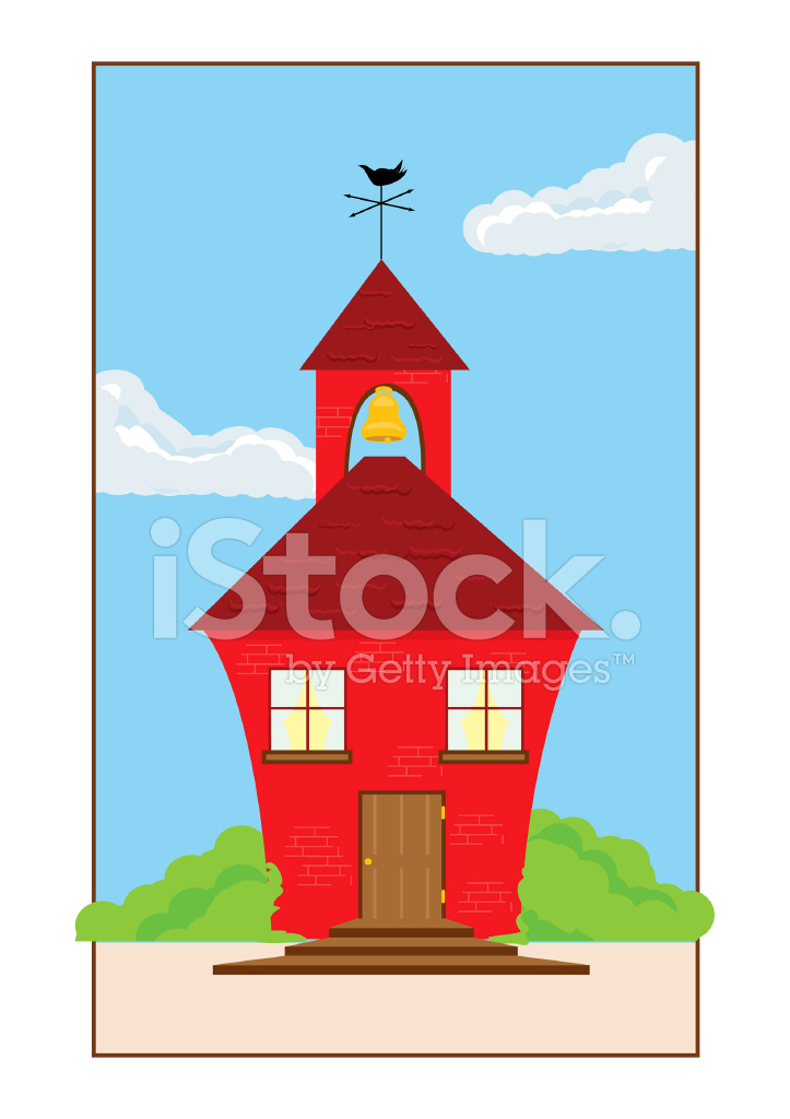 723x1024 Little Red Schoolhouse Stock Vector
