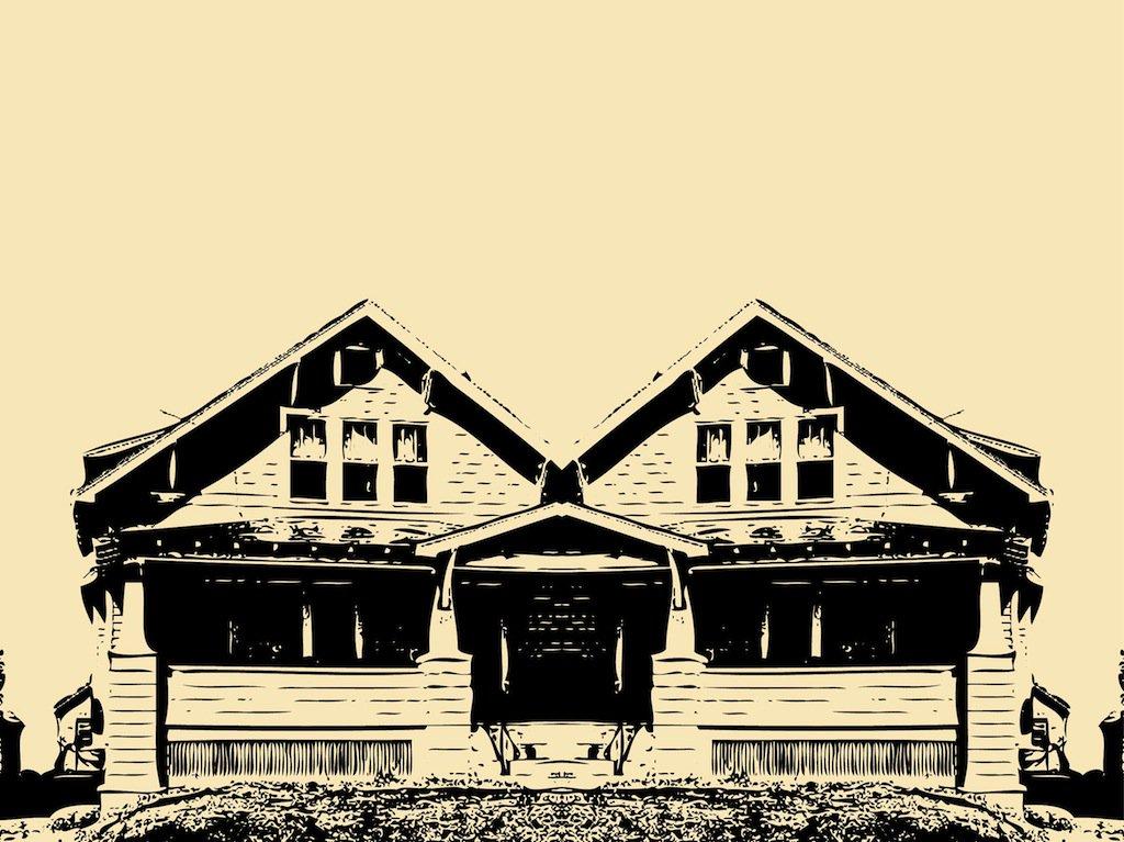 1024x767 Old House Vector