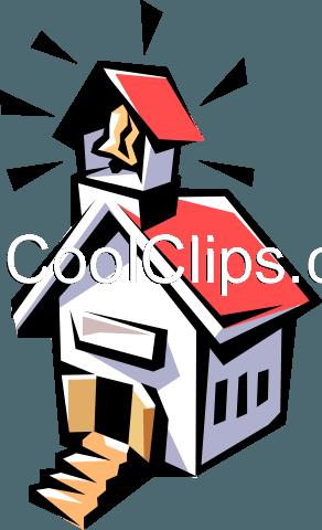292x480 School House Royalty Free Vector Clip Art Illustration Arch0115