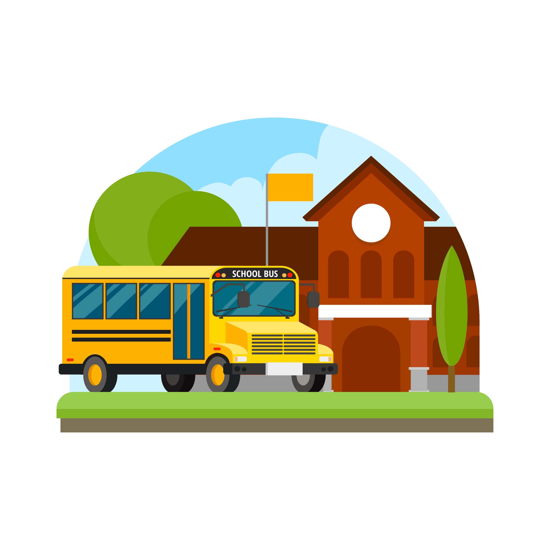 2917x2917 Schoolhouse Free Vector Art