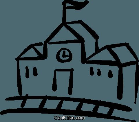 480x420 School House Royalty Free Vector Clip Art Illustration Vc032471