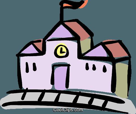 480x403 School House Royalty Free Vector Clip Art Illustration Vc040132