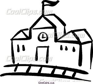 300x269 School House Vector Clip Art