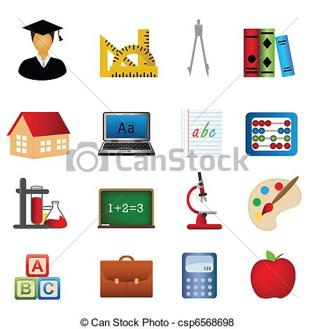 450x470 Education And School Icon Set. Education And School Related