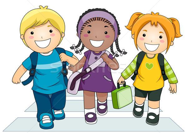 600x427 Kids Going To School Vector Illustration Lenm ( 506450) Stockfresh