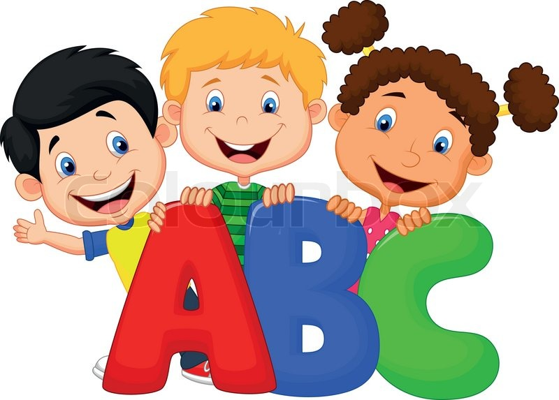 800x573 Vector Illustration Of School Kids Cartoon With Abc Stock Vector