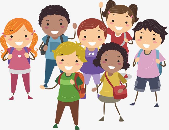 650x503 Cartoon Children, Cartoon Vector, Children Vector, Go To School