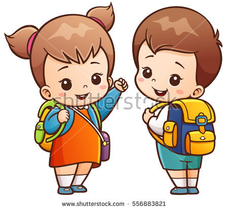 450x414 Cartoon Pictures For Kids Vector Illustration Cartoon Kids Going