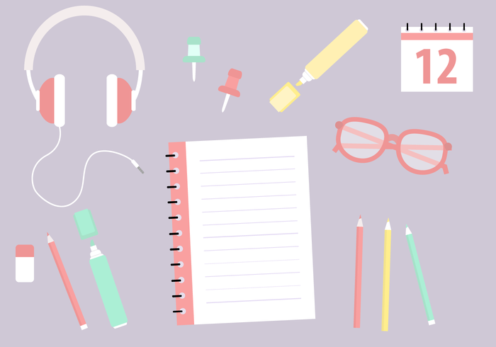 700x490 Free School Supplies Vector