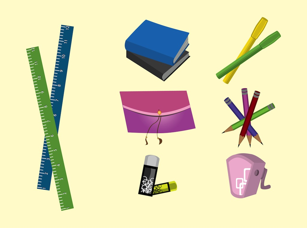 1024x761 School Supplies Vector Art Amp Graphics