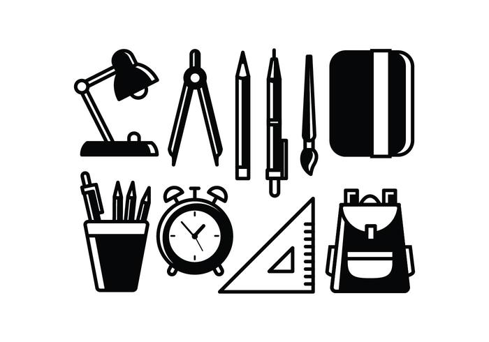 700x490 School Supplies Vectors