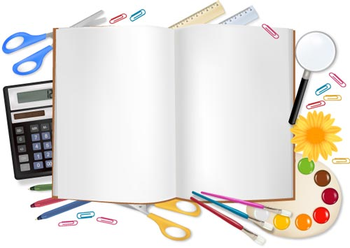 500x355 School Supplies Vectors