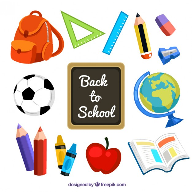 626x626 Supplies Of Back To School Vector Free Download