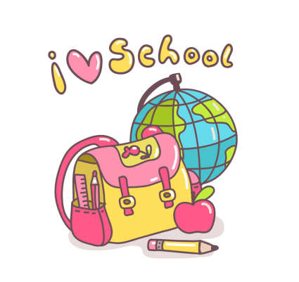 425x401 Cartoon School Supplies Vector Free Vector ~ Vectorkh