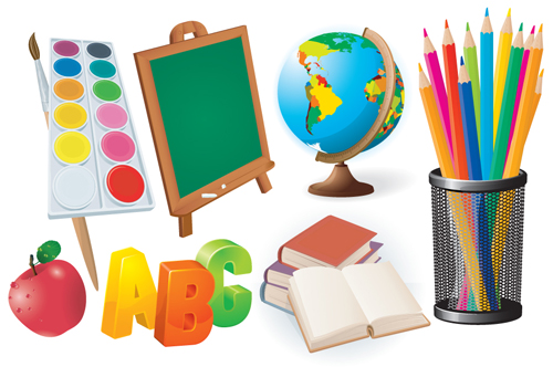 500x332 Different School Supplies Vector Graphic Set 08 Free Download