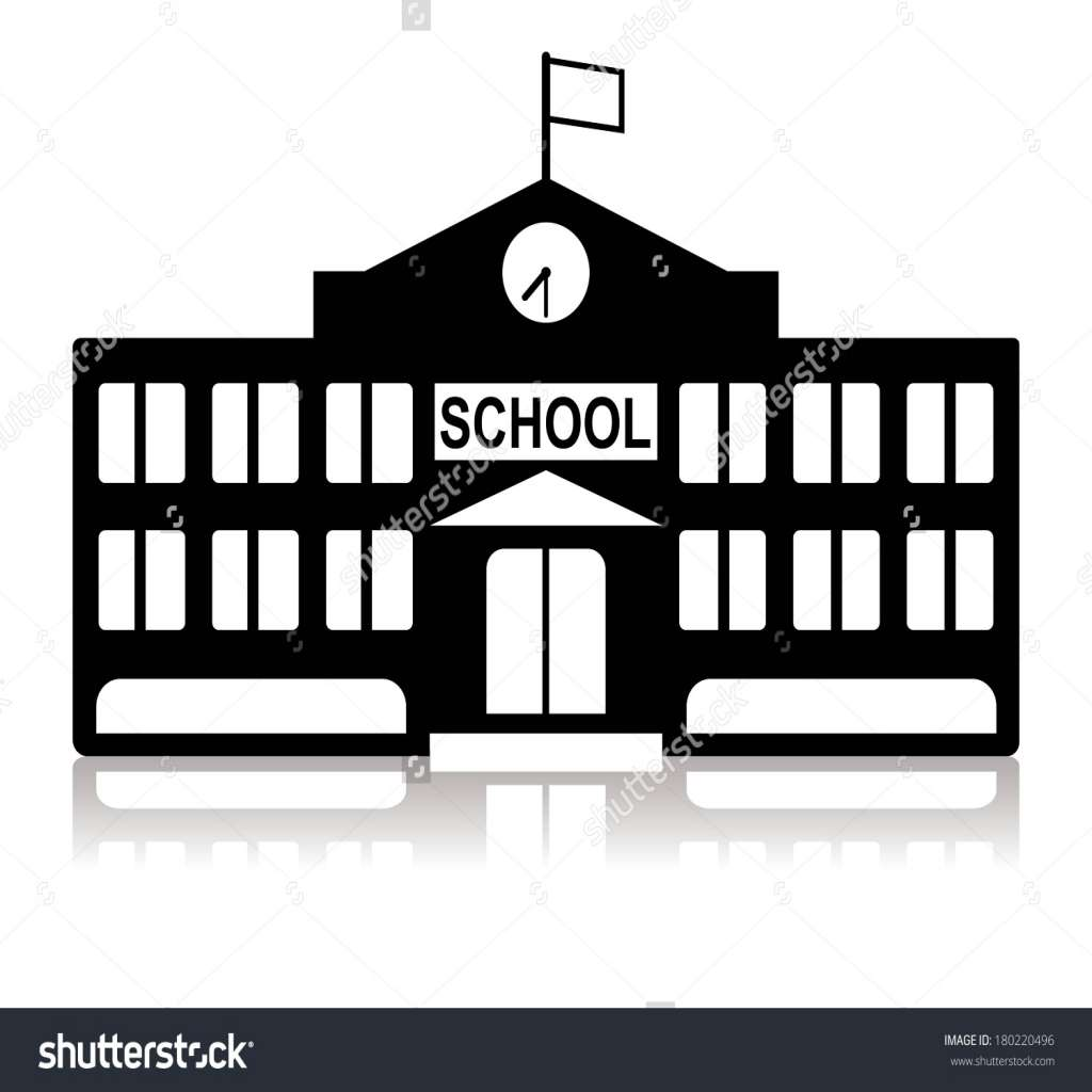 1024x1024 School Building Clipart Black And White Elegant School Building