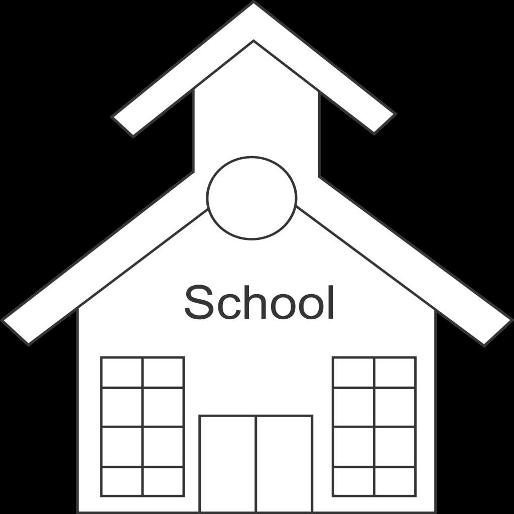 1024x1024 School Building Clipart Black And White New 12 Black And White