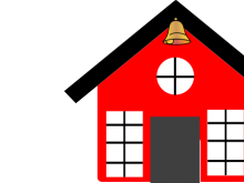 220x165 School Bell Clipart Red School House With Bell Clip Art