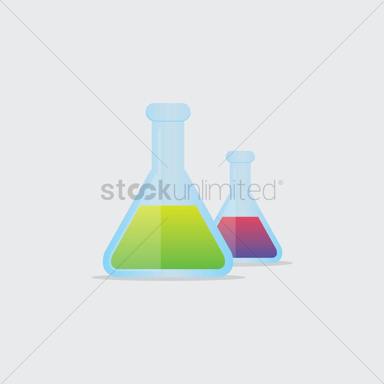 1300x1300 Free Science Beakers Vector Image