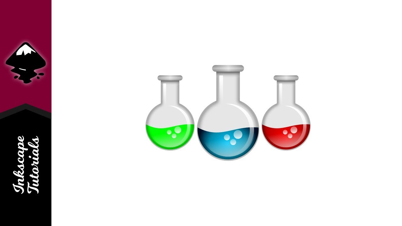 1280x720 Inkscape Tutorial Create A Vector Laboratory Beaker Graphic
