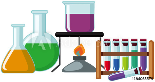 500x264 Science Beakers With Colorful Chemical