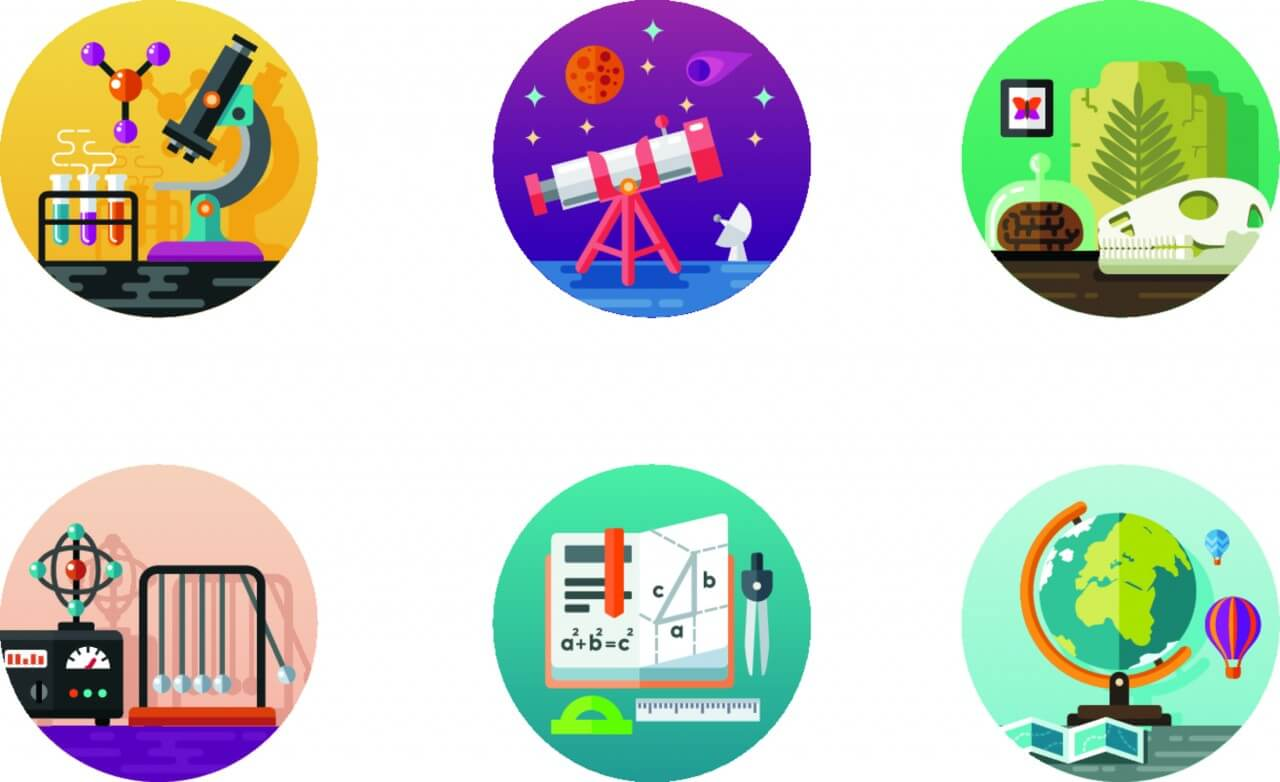 1280x782 Free Vector Science Icon Pack