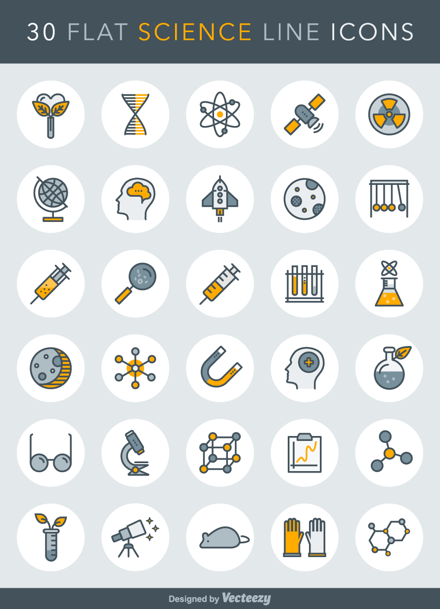 890x1232 Freebie Science Line Icons Icons, Icon Set And Logos