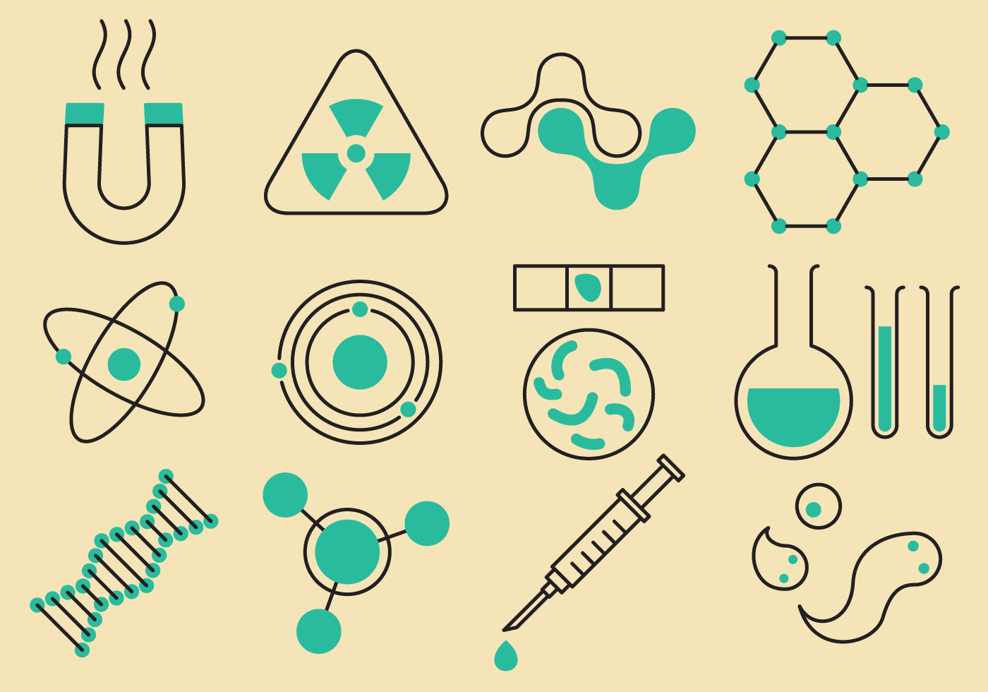 1400x980 Science And Technology Icons