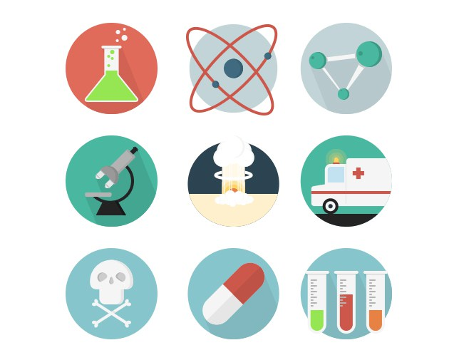 651x505 20 Free Science Icons Set
