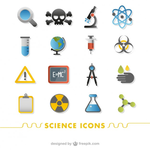 626x626 Science Icons Set Vector Free Download