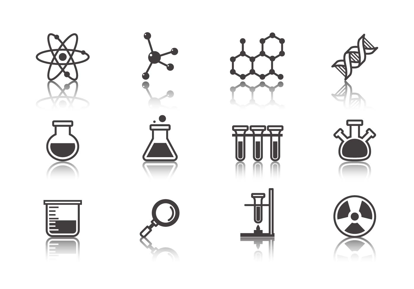 1400x980 Science And Laboratory Icons Vector