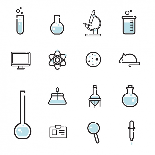 626x626 Science Icons Collection Vector Free Download