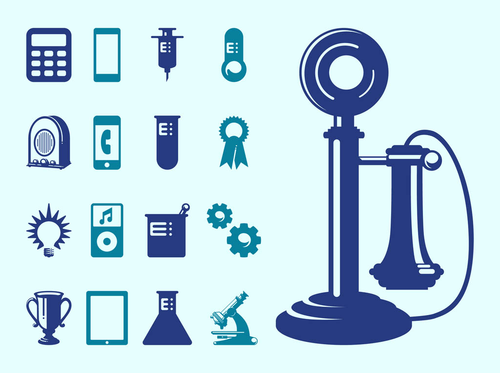 1024x765 Technology And Science Icons Vector Art Amp Graphics