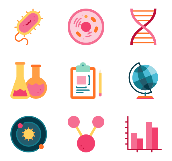 600x564 Biology Icons