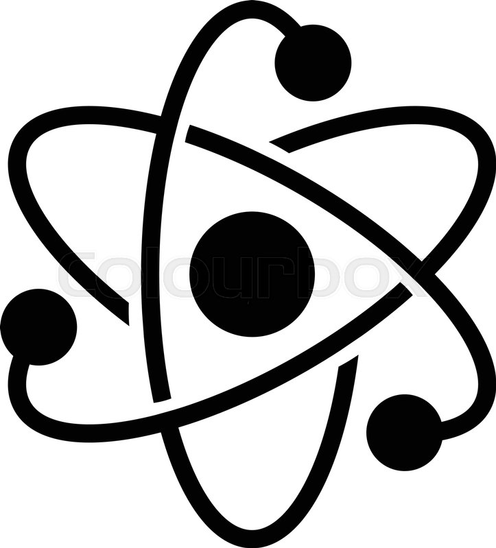 723x799 Dynamic Atom Molecule Science Symbol Vector Icon Stock Vector