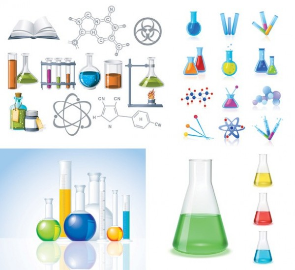 600x549 Science Chemistry Lab Vector Icons Pack