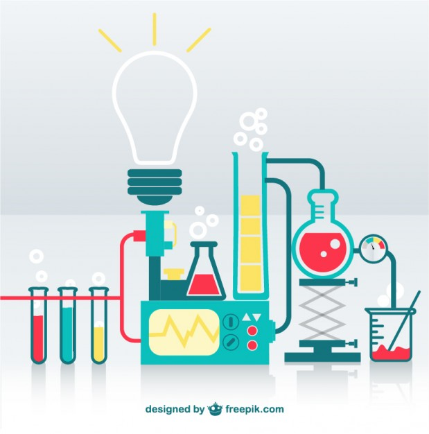 619x626 Science Lab Vector Free Download