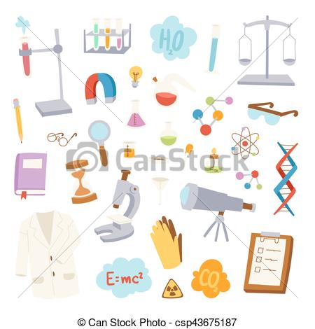 450x470 Science Lab Icons Vector Illustration. Science Lab Icons Education