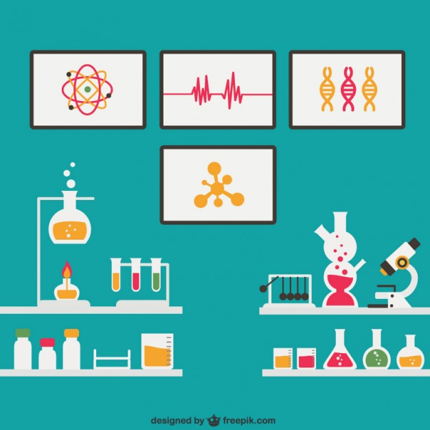 626x626 Science Laboratory Vector Free Download