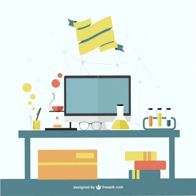 626x626 Science Office Vector Template Vector Free Vector Download In