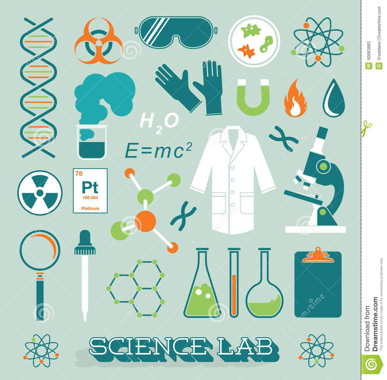 1326x1300 Vector Set Science Lab Icons And Objects Creative Chemistries