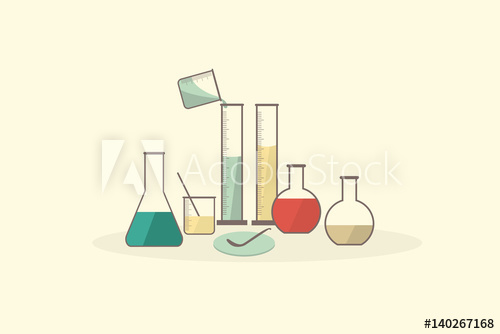 500x334 Science Lab Vector Set Glassware,medical Laboratory.