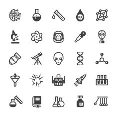 235x235 8 Best Science Icons Images Vector Art, Free Vector