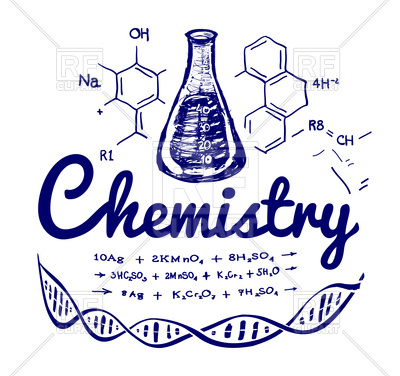 400x376 Hand Drawn Chemistry Background Vector Image Vector Artwork Of