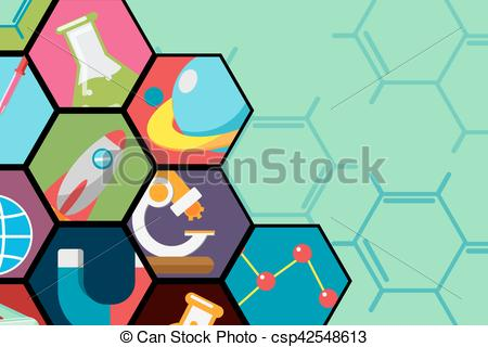 450x320 Hexagon Science Flat Icon Background Vector.