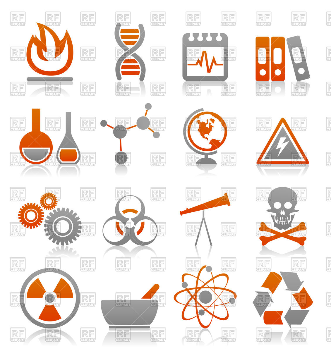1131x1200 Icons On Science Theme Vector Image Vector Artwork Of Signs