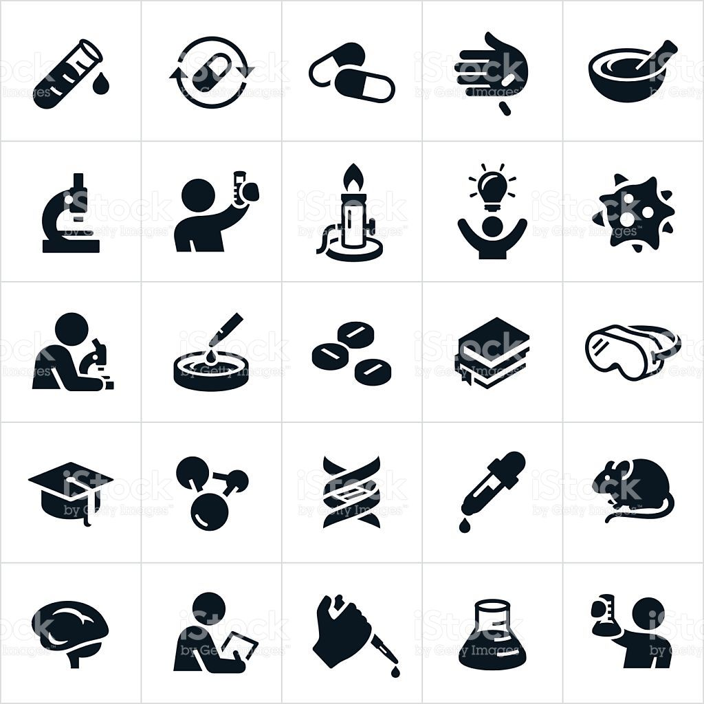 1024x1024 A Set Of Icons Representing Biomedicine Or Biomedical Sciences