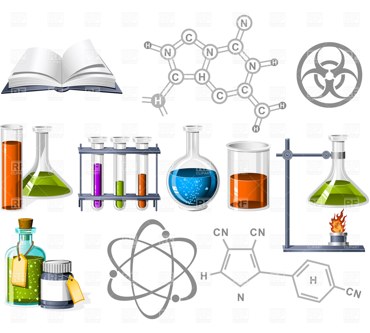 1200x1080 Science And Chemistry Icons Vector Image Vector Artwork Of